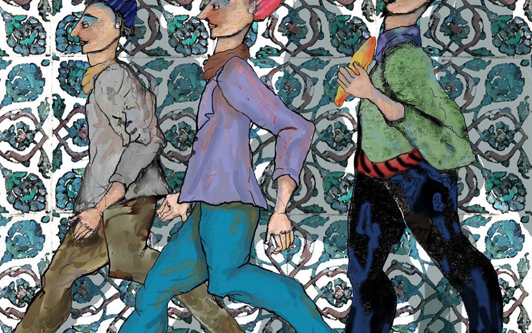 Caminando frente al mosaico