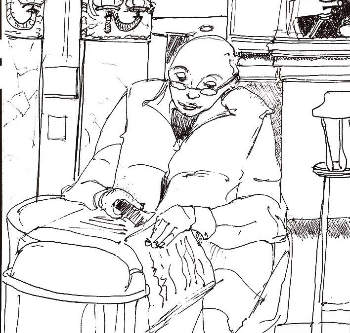 Hotel Castelar- Serie de dibujos de Buenos Aires