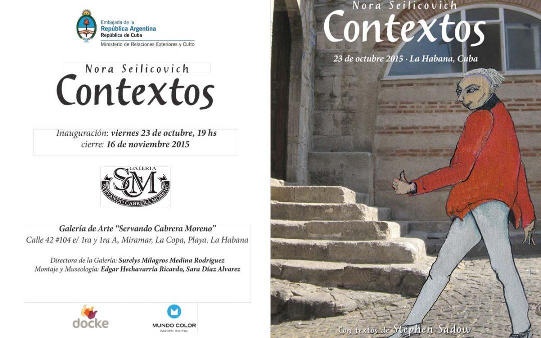 """Invitación exposición """"Contextos"""" La Habana 2015"""